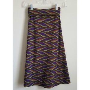 LuLaRoe knee length Flare Skirt Sz 3XL Oliv Green